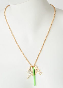 Gold Green Lightning Love Chain