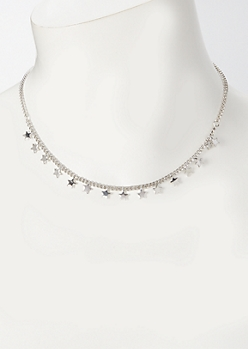 Silver Micro Star Charm Necklace
