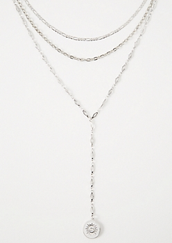 Silver Y Shape Choker Necklace