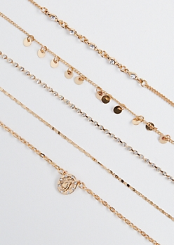 5-Pack Mary Medallion Choker Set