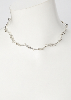Silver Tribal Tattoo Chain Necklace
