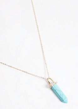 Turquoise Crystal Necklace
