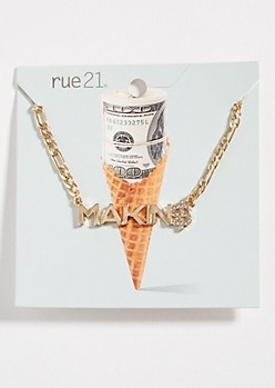 Gold Chain Making Money Necklace