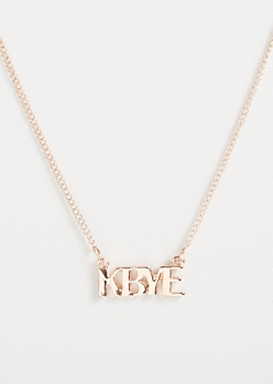 Rose Gold K Bye Necklace