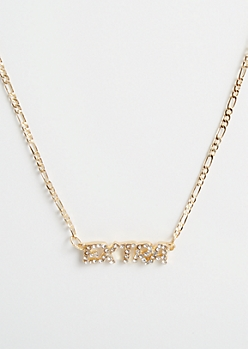 Gold Rhinestone Extra Necklace