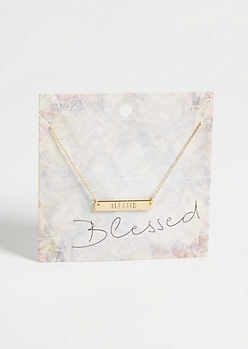 Gold Blessed Pendant Necklace