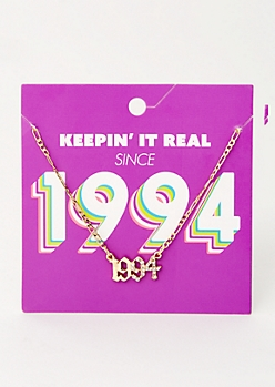 Gold 1994 Birth Year Necklace