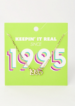Gold 1995 Birth Year Necklace