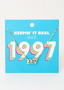 Gold 1997 Birth Year Necklace