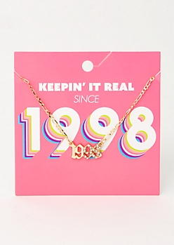 Gold 1998 Birth Year Necklace