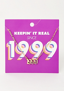 Gold 1999 Birth Year Necklace
