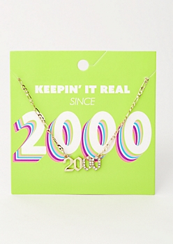 Gold 2000 Birth Year Necklace