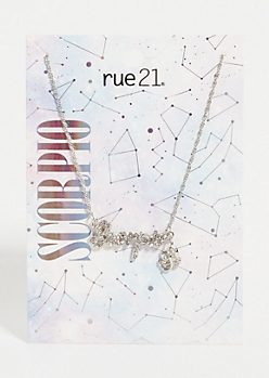 Silver Scorpio Astrology Charm Necklace