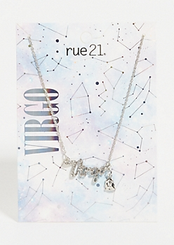 Silver Virgo Astrology Charm Necklace