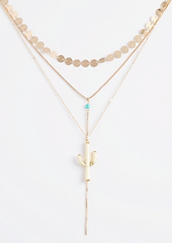 Cactus Layered Necklace