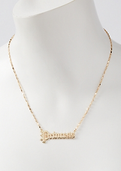 Gold Princess Chain Necklace