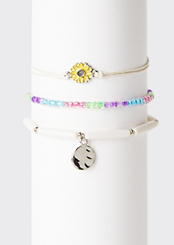 3-Pack Sunflower Wish Bracelet Set