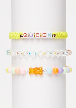 3-Pack Yellow Queen Wish Bracelet Set