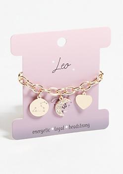 Gold Leo Charm Bracelet