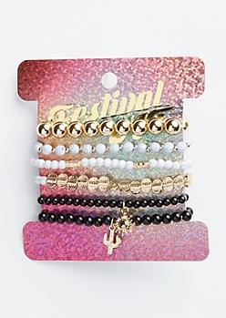 6-Pack Marble Sun Bracelet Set