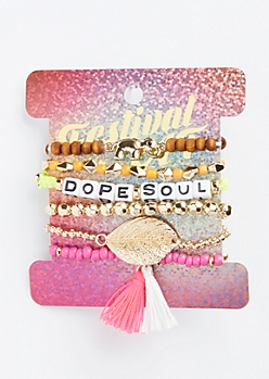 7-Pack Dope Soul Friendship Bracelet Set