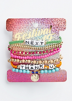 7-Pack Thank You Next Friendship Bracelet Set