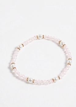 Pink Pearl Stretch Bracelet