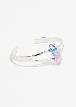 Silver Galaxy Crystal Bracelet