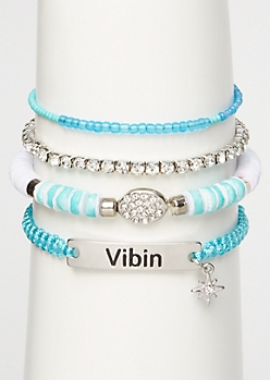 4-Pack Blue Vibin Bracelet Set