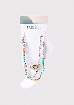 3-Pack Cowry Shell Anklet Set