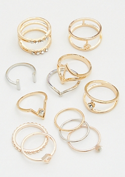 12-Pack Mixed Assorted Ring Set