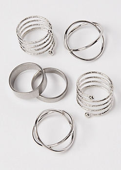 Silver Minimalist Ring Set