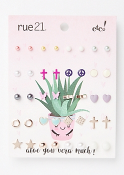 20-Pack Favorite Stud Earring Set