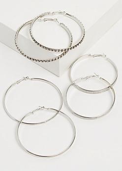 3- Pack Glittering & Shimmering Hoop Set