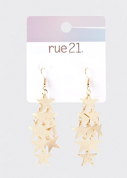 Gold Star Chandelier Drop Earrings