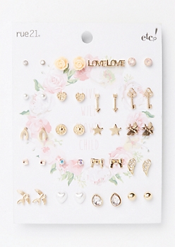 20-Pack Flower Child Earring Set