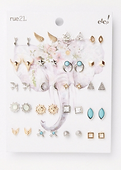 20-Pack Boho Earring Set