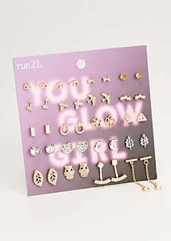 20-Pack Mixed Animal Drop Earring Set
