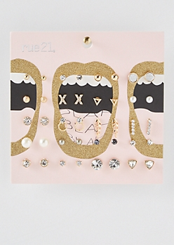 20-Pack Gold Decorative Assorted Stud Set