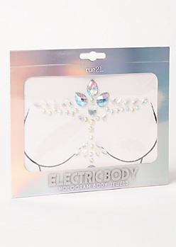 T Shape Hologram Body Jewels