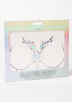 V Neck Hologram Body Jewels