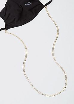 Gold Figaro Link Mask Chain