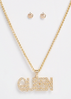 3-Pack Gold Queen Jewelry Set