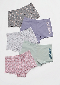 5-Pack Bad Habits Boyshort Undies Set