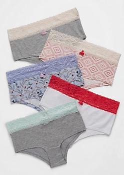 5-Pack Tassel Accented Lace Bikini Set