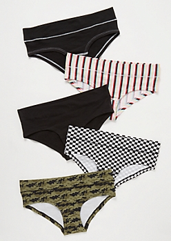 5-Pack Camo Print Baby Girl Boyshort Undies Set