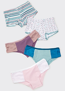 5-Pack Mesh Colorblock Assorted Undies Set