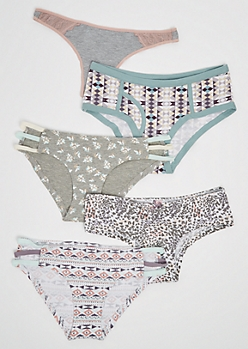 5-Pack Leopard Print Assorted Undies Set