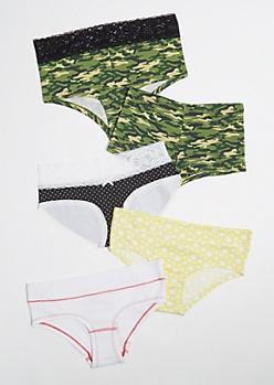 5-Pack Camo Print Assorted Undies Set