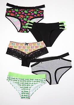 5-Pack Weed Print Bikini Undies Set